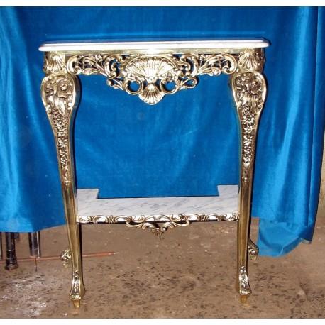 Consola de bronce con apoyos de marmol