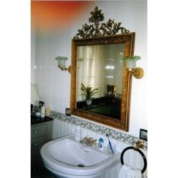 Espejo forja acabado en verde