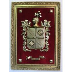 Escudo Heráldico Simple Extra Grande terciopelo 17-005