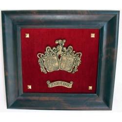 Escudo Heráldico doble pequeño terciopelo 17-007