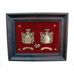 Escudo Heráldico doble pequeño sueltos 17-008
