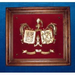 Escudo Heráldico doble pequeño sueltos 17-011